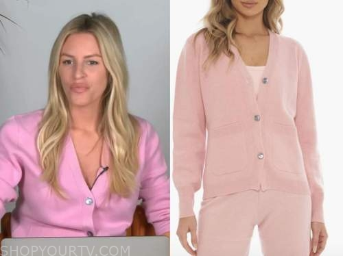 morgan stewart, E! news, daily pop, pink cardigan sweater