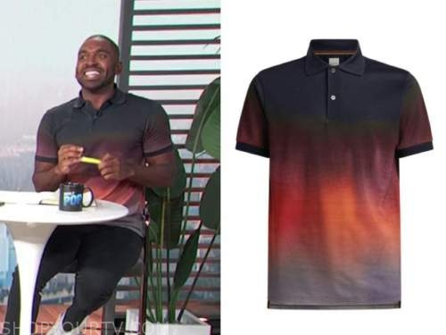justin sylvester, E! news, daily pop, ombre polo shirt