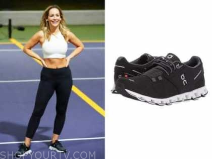 clare crawley, the bachelorette, black and white sneakers