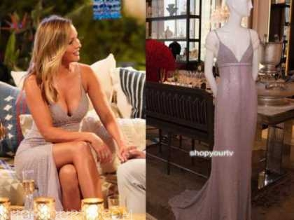 clare crawley, the bachelorette, pink sequin slit gown