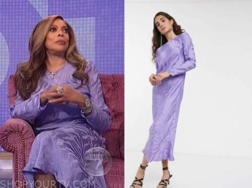 wendy williams, the wendy williams show, purple jacquard dress