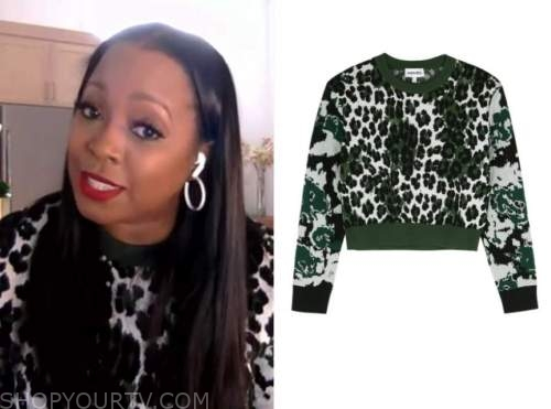 keshia knight pulliman, leopard cropped sweater, e! news daily pop