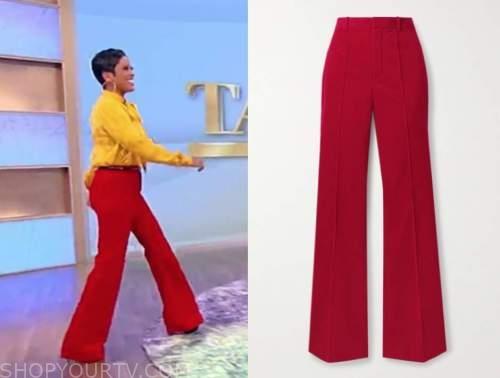 tamron hall, tamron hall show, red pants