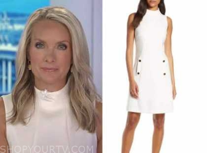 dana perino, the five, the daily briefing, ivory funnel neck dress