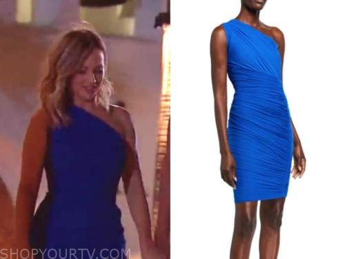 clare crawley, the bachelorette, blue one-shoulder dress
