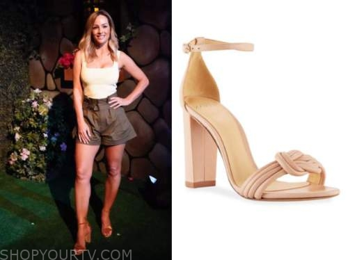 clare crawley, the bachelorette, beige knot sandals