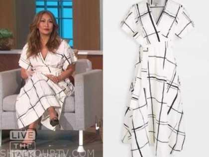3.1 phillip lim, white and black wrap check dress, the talk
