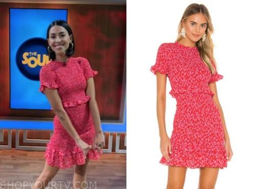 jade catta-preta, the soup, red floral dress