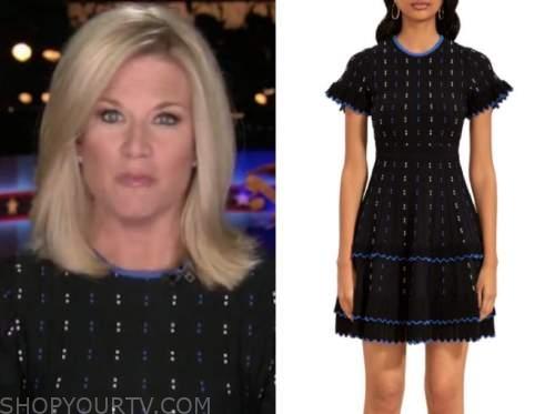 the story, martha maccallum, black knit dress