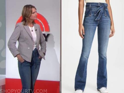 savannah guthrie, tie waist jeans, the today show