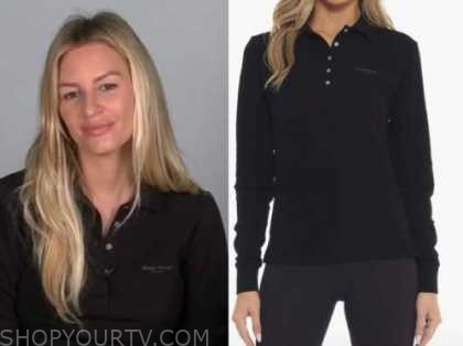 morgan stewart, black polo shirt, E! news, daily pop