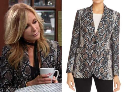 lauren fenmore baldwin, snakeskin blazer, tracey bregman, the young and the restless