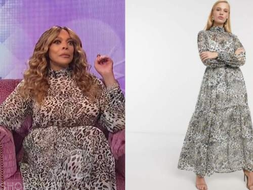 wendy williams, the wendy williams show, leopard maxi dress