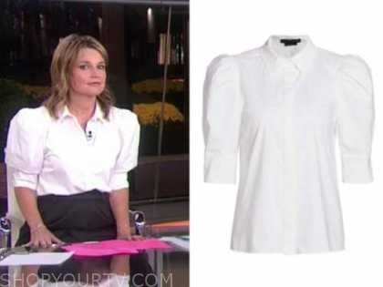 savannah guthrie, the today show, white puff sleeve top
