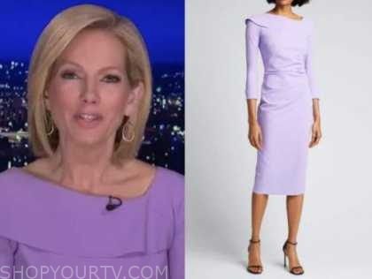 shannon bream, purple dress, fox news at night