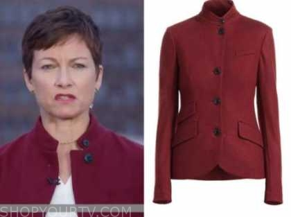 stephanie gosk, the today show, burgundy jacket