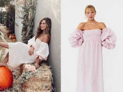 hannah brown, the bachelorette, pink gingham midi dress