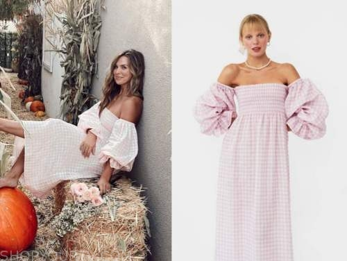 hannah brown, the bachelorette, pink gingham midi dress