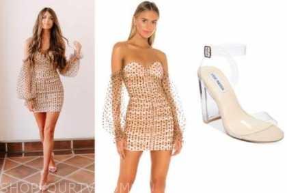 madison prewett, the bachelor, dot dress, clear heels