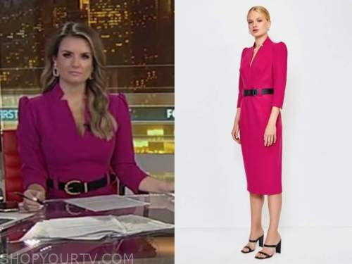 jillian mele, hot pink dress, fox and friends