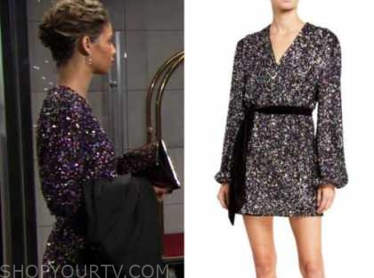 elena dawson, brytni sarpy, the young and the restless, sequin dress