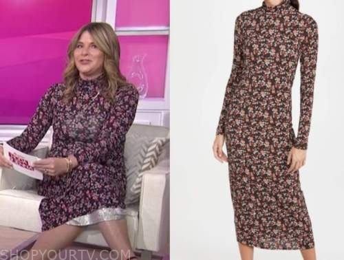 jenna bush hager, floral turtleneck midi dress, the today show