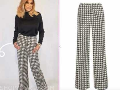 wendy williams, the wendy williams show, houndstooth pants