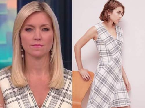 ainsley earhardt, fox and friends, tweed check dress