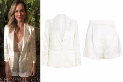 clare crawley, the bachelorette, white satin shorts suit