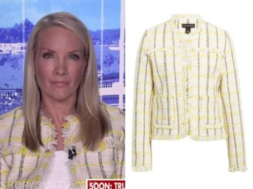 dana perino, the bachelorette, yellow and white check tweed jacket