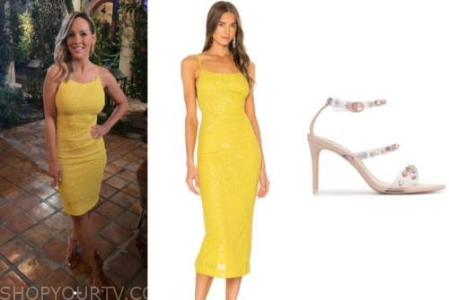 clare crawley, the bachelorette, yellow sequin dress