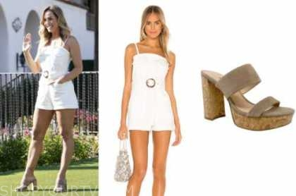 clare crawley, the bachelorette, white romper, platform sandals