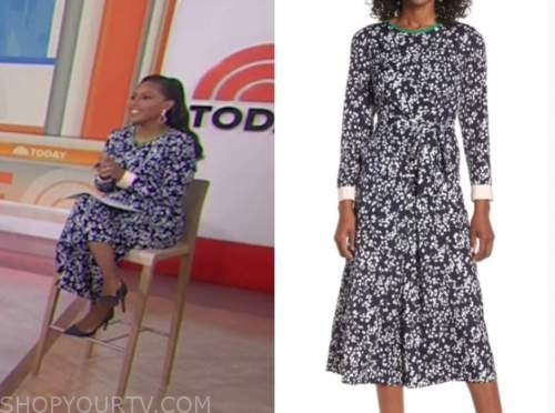 sheinelle jones, the today show, blue floral jumpsuit