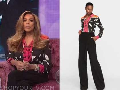 wendy williams, the wendy williams show, lip print jumpsuit