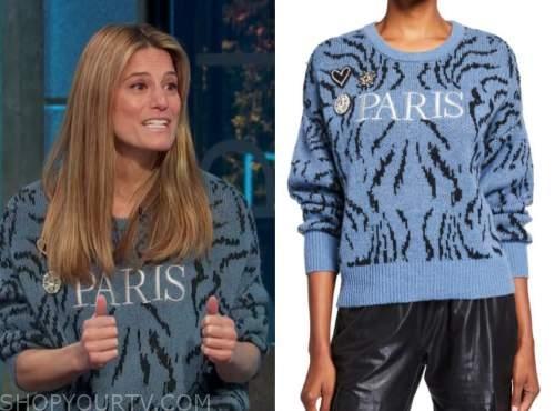 brooke jaffe, E! news, daily pop, blue paris sweater