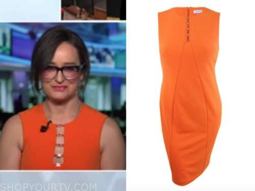 kennedy, fox news, orange cutout sheath dress, outnumbered