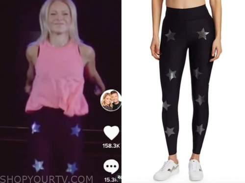 kelly ripa, black star leggings, live with kelly and ryan, halloween episode, tik tok
