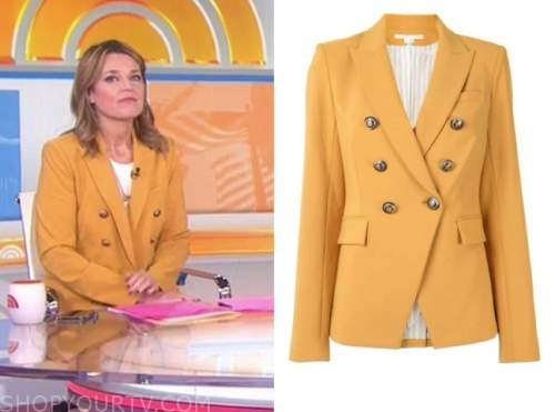 savannah guthrie, the today show, mustard yellow double breasted blazer