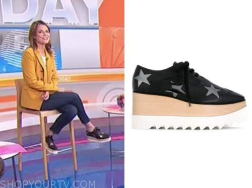 savannah guthrie, the today show, black star platform sneakers