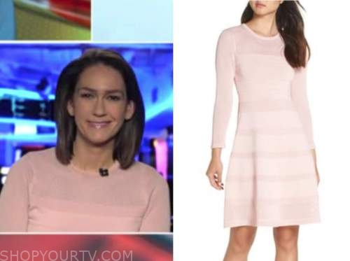 jessica tarlov, blush pink knit dress, outnumbered