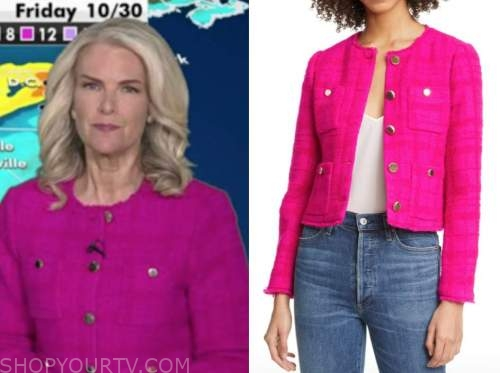 janice dean, fox and friends, hot pink tweed jacket