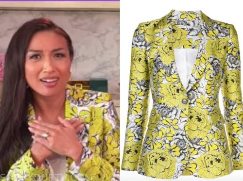 the real, jeannie mai, yellow floral blazer