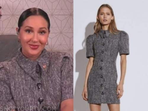 adrienne bailon, the real, grey collar shirt dress