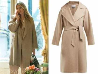 Sylvia Steineitz, lily rabe, the undoing, beige wrap coat,