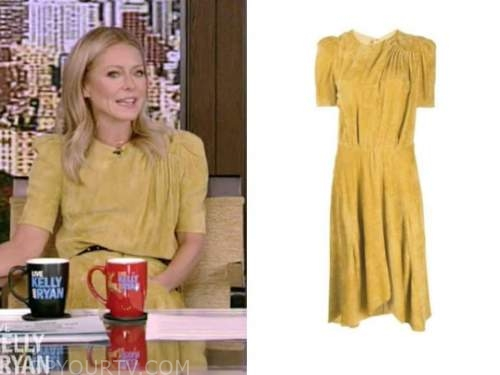 kelly ripa, yellow dress, live with kelly and ryan