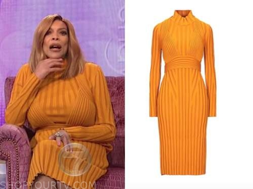 wendy williams, the wendy williams show, orange turtleneck dress