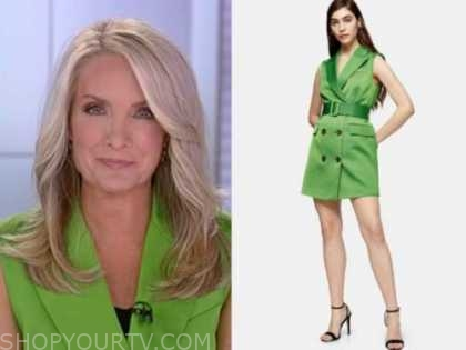 dana perino, green blazer dress, the daily briefing, the five