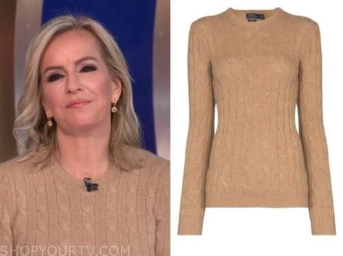 dr. jennifer ashton, beige cable knit sweater, good morning america, gma3