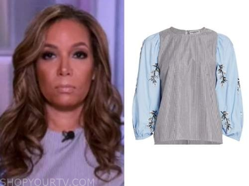 sunny hostin, striped embellished top, the view