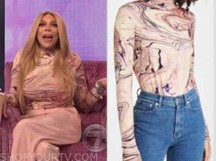 wendy williams, wendy williams show, marble turtleneck top